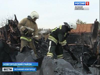 В поселке Панковка Новгородского района на пожаре погибли люди