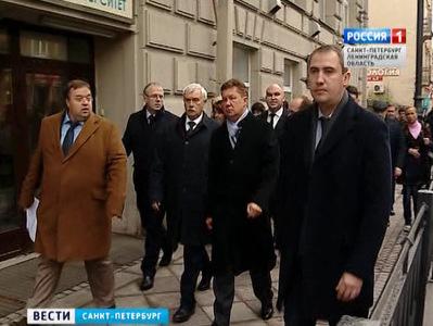 георгий полтавченко алексей миллер оценили реконструкцию исторических улиц