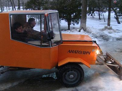 Волгоградские студенты изобрели уникальный снегоуборщик