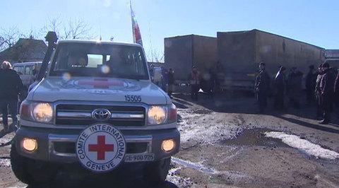 Миссия Красного Креста возобновила работу в Донбассе