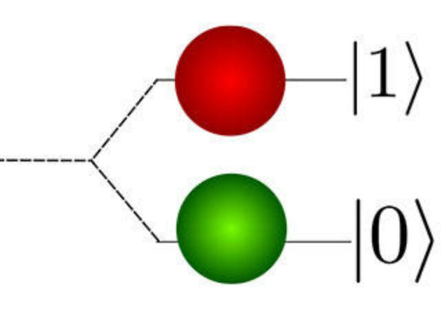 """В отличие от классических битов, кубиты могут принимать значения """"1"""", """"0"""", а также находиться в состоянии квантовой суперпозиции, имея сразу несколько значений (иллюстрация Clemens Adolphs)."""