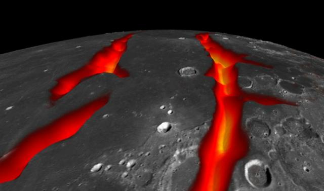 Трещины на западной границе Океана Бурь, скорее всего, образовались 3,5 миллиардов лет тому назад (фото NASA/Colorado School of Mines/MIT/JPL/Goddard Space Flight Center).