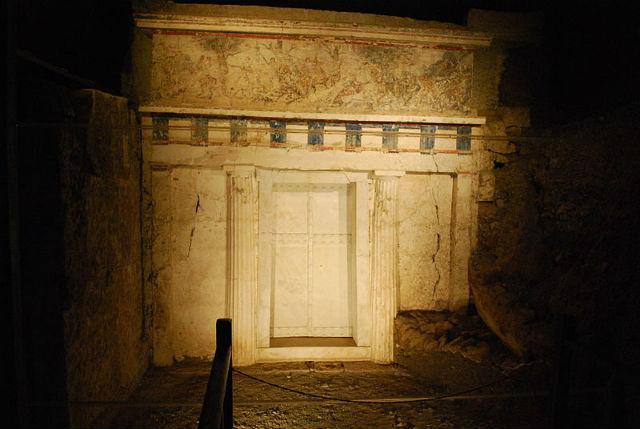 Гробница Филиппа II, македонского царя (фото Wikimedia Commons).