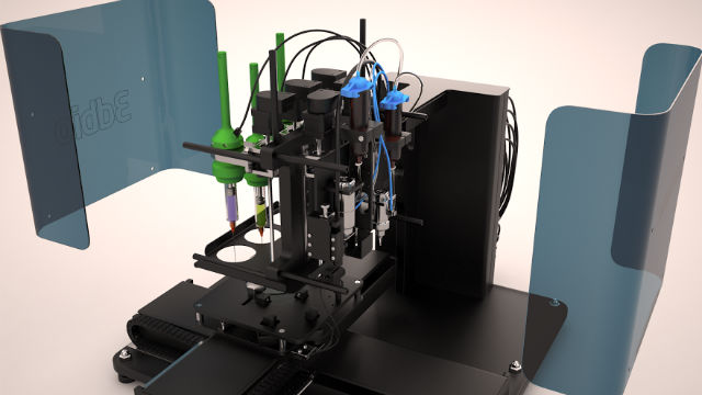 Конструкция FABION позволяет работать с биогелем и тканевыми сфероидами отдельно (фото 3D Bioprinting Solutions).
