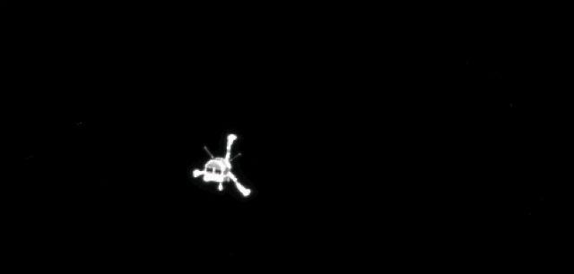 """Снимок модуля """"Филы"""", сделанный """"Розеттой"""" (фото ESA/Rosetta/MPS)."""