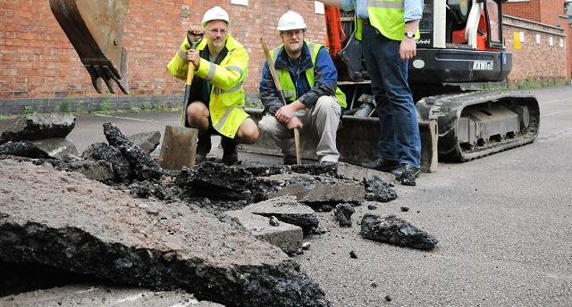 Раскопки велись в Лестере на территории автопарковки (фото University of Leicester).