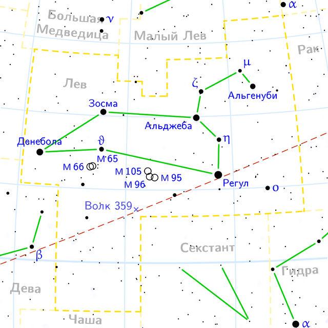 Уникальная планетная система расположена в созвездии Льва (иллюстрация NASA/Wikimedia Commons).