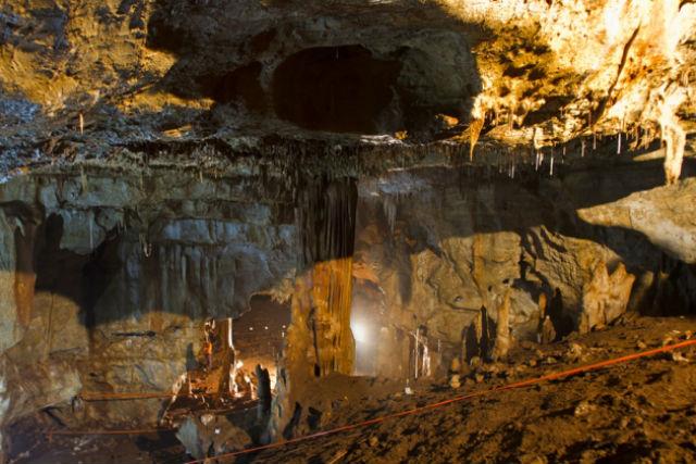 Пещера Манот, где была сделана ценная находка (фото Israel Hershkovitz/Ofer Marder/Omry Barzilai).