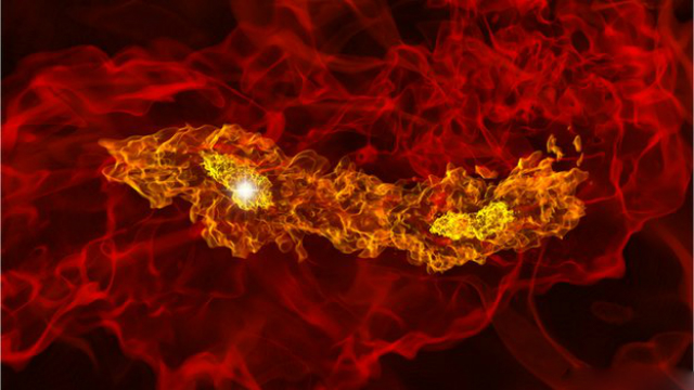 Первые звёзды были гигантами, жизнь которых была короткой, но яркой (иллюстрация StanfordUniversity).
