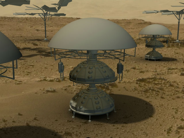 С 30 мая по 12 июня 2014 года любой желающий может представить своё видение будущей марсианской базы, детали которой можно будет отпечатать на 3D-принтере (иллюстрация MakerBot).