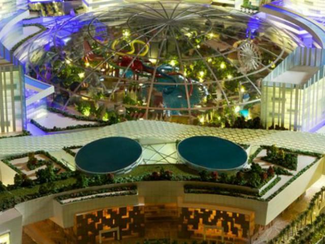 На территории также будет расположено более сотни отелей (иллюстрация Dubai Holding).