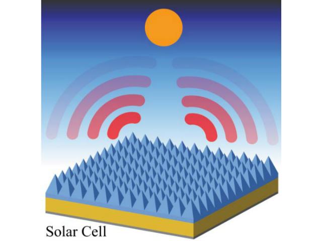 Солнечные батареи охлаждают себя сами благодаря пирамидальным конструкциям из кварцевого стекла