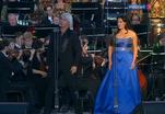 Анна Нетребко и Дмитрий Хворостовский дали совместный концерт на Красной площади