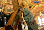 Крест Андрея Первозванного привезён сегодня в Храм Христа Спасителя