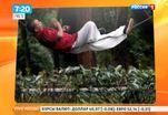 Мастер кунг-фу спит на веревке