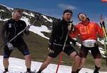 Знаменитые биатлонисты дали рок-концерт на вершине горы