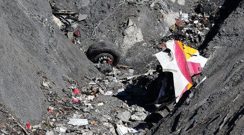 Обнаружена видеозапись последних секунд полета разбившегося в Альпах лайнера