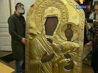 Закончились работы по спасению уникальной Смоленской иконы Богоматери