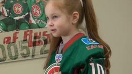Дети хоккеистов поддержали своих пап
