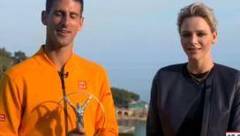 Лучший спортсмен года получил приз из рук княжны Монако